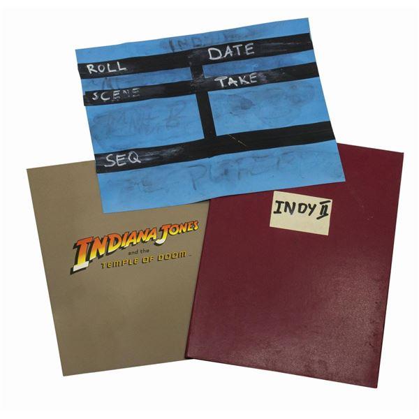 Temple of Doom Production Folder, Slate, and Program.