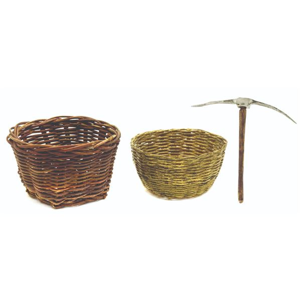 Miniature Pickaxe and Baskets from Temple of Doom.