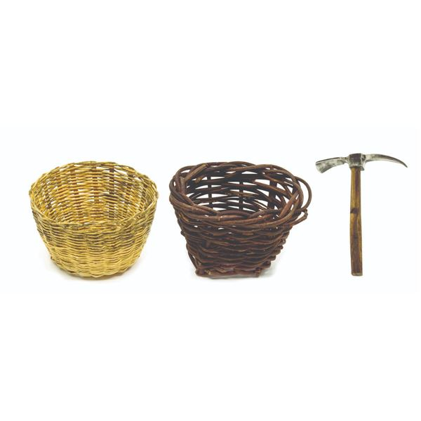 Miniature Baskets and Pickaxe from Temple of Doom.