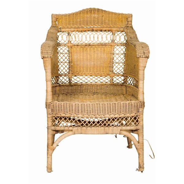 Titanic Palm Court Wicker Wingback Chair Prop.