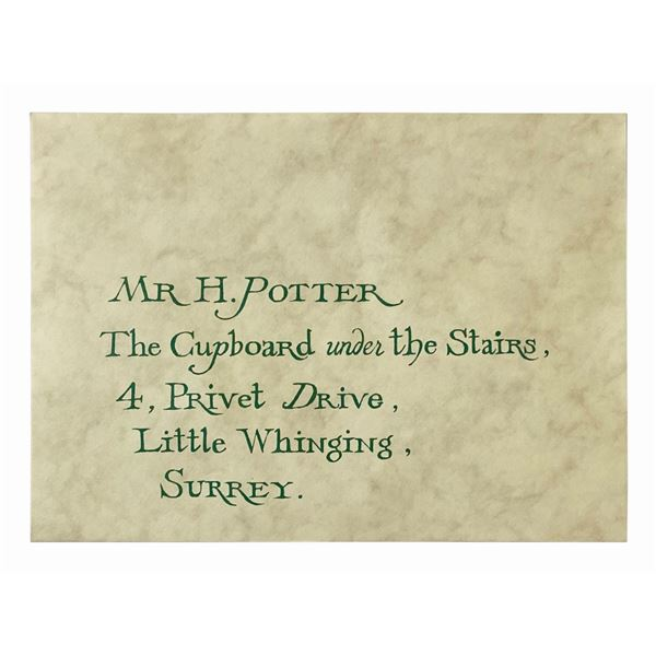 Harry Potter Hogwarts Acceptance Letter Prop.