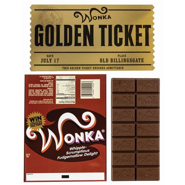 Charlie and the Chocolate Factory Wonka Bar Props.