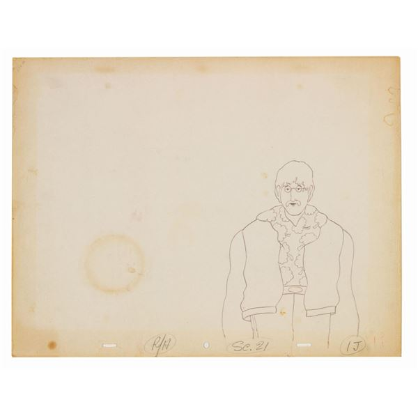 John Lennon Yellow Submarine Production Drawing.
