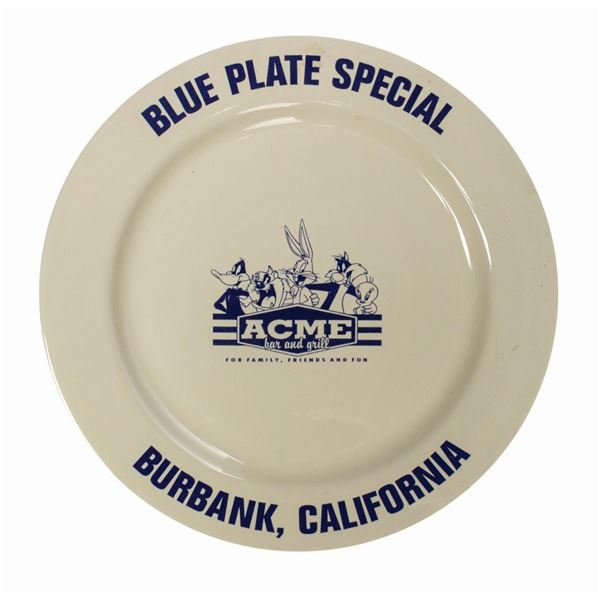 ACME Bar & Grill Blue Plate Special Plate.