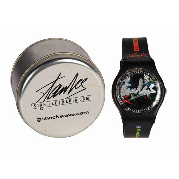 Stan Lee Signed Shockwave Wristwatch.