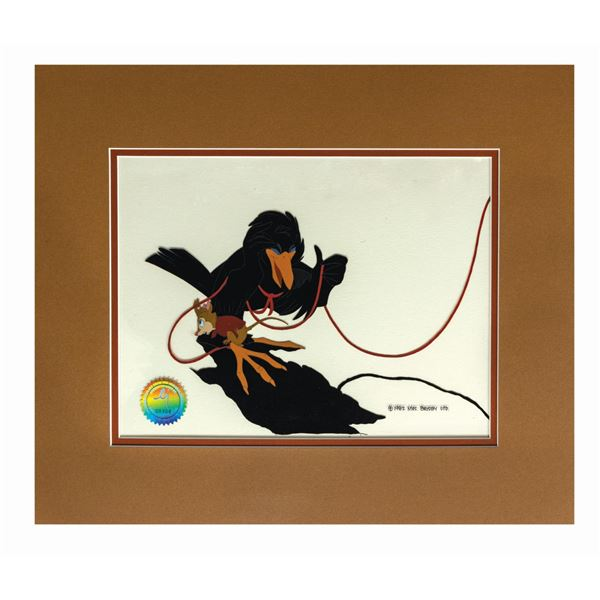 """The Secret of NIMH """"Jeremy and Mrs. Brisby"""" Film Cel."""