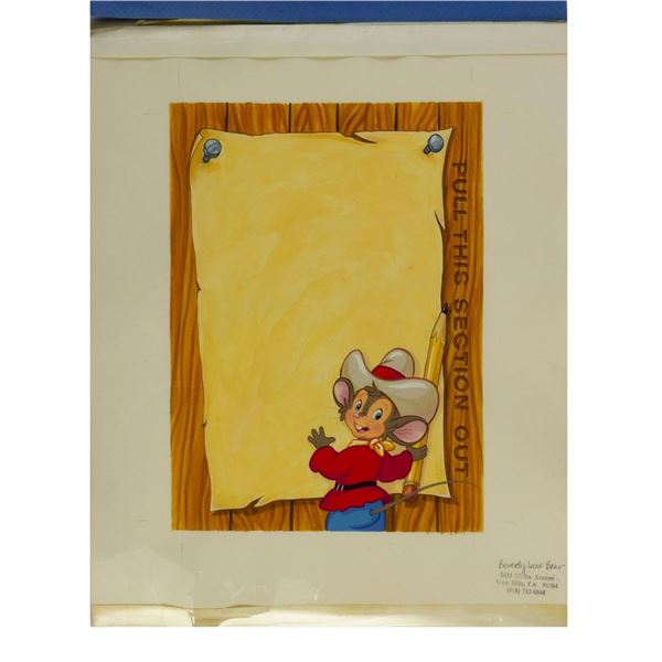 An American Tail: Fievel Goes West Original Ad Art.