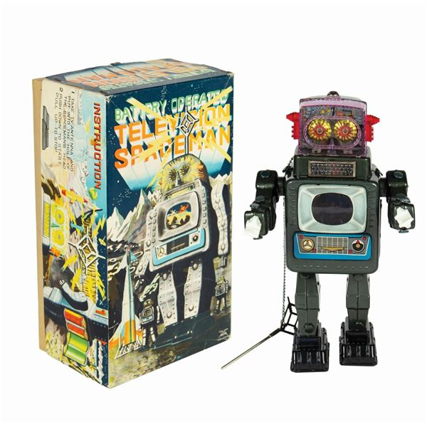 Television Spaceman Robot with Box.