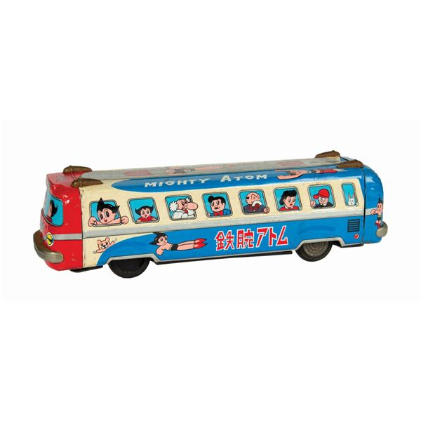 Mighty Atom/Astroy Boy Friction Bus Tin Toy.