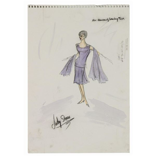 Edith Head Judy Garland Costume Sketch for The Judy Garland Show.