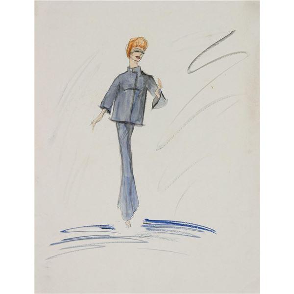 Edith Head Ann-Margret Costume Sketch for The Dean Martin Show.