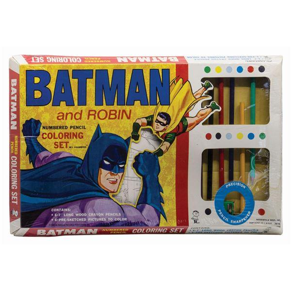 Batman and Robin Numbered Pencil Coloring Set.