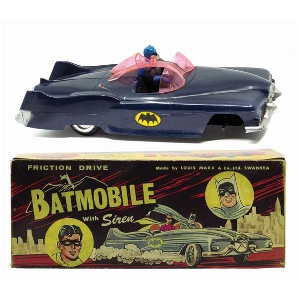 Batmobile with Siren Marx UK Exclusive Toy.