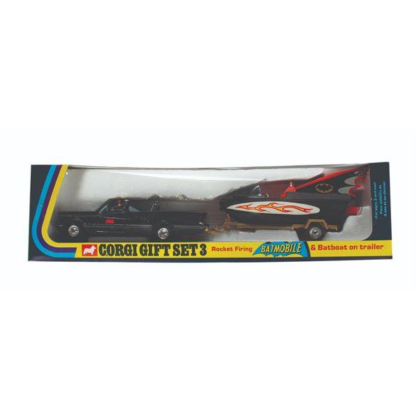 Batmobile and Batboat Corgi Gift Set.