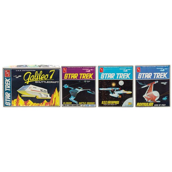 Set of (4) AMT Star Trek Model Kits.