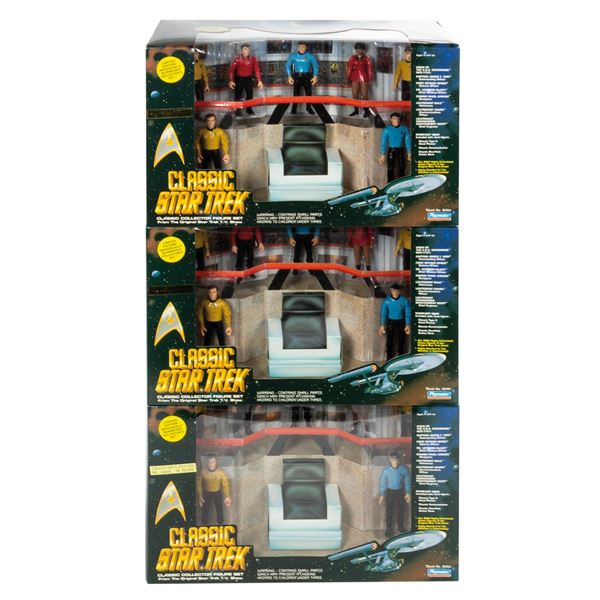 Case of (3) Star Trek Classic Collection Figure Sets.