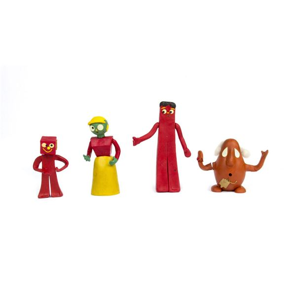 """Collection of (4) """"Gumby"""" Stop Motion Puppets."""