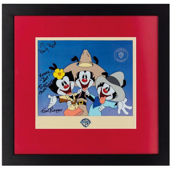 Nancy Cartwright's Animaniacs Sericel with Signatures.