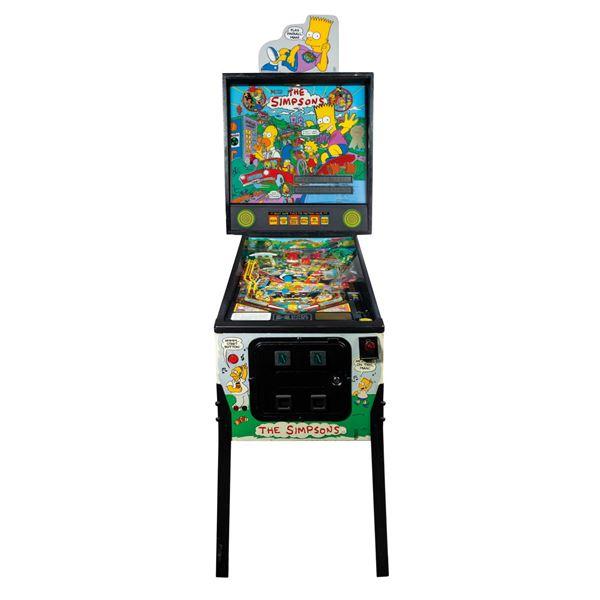 Nancy Cartwright's Custom The Simpsons Pinball Machine.