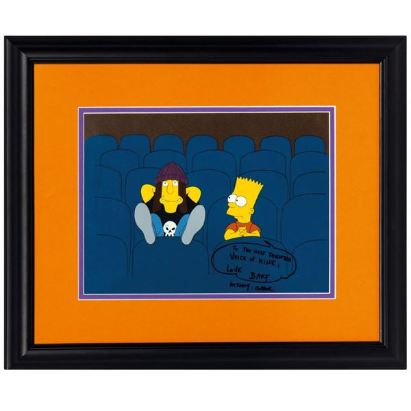 The Simpsons Bart and Jimbo Production Cel.