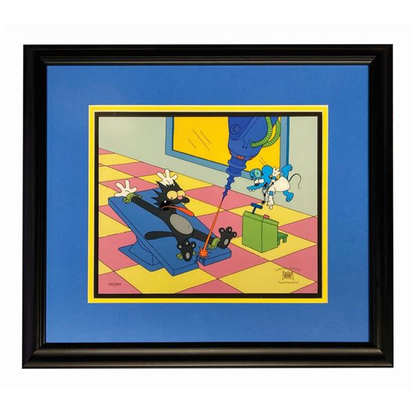 """The Simpsons """"Spay Anything"""" Limited Edition Cel."""