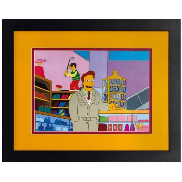 The Simpsons Troy McClure Production Cel.