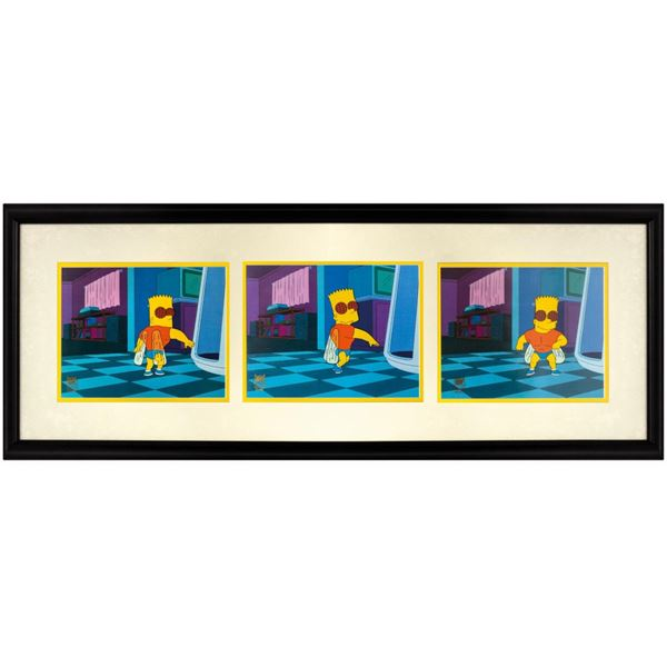 Set of (3) The Simpsons Treehouse of Horror Cels.