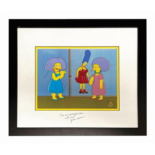 The Simpsons Marge & Sisters Cel Signed by Julie Kavner