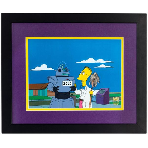 The Simpsons Professor Frink Production Cel.
