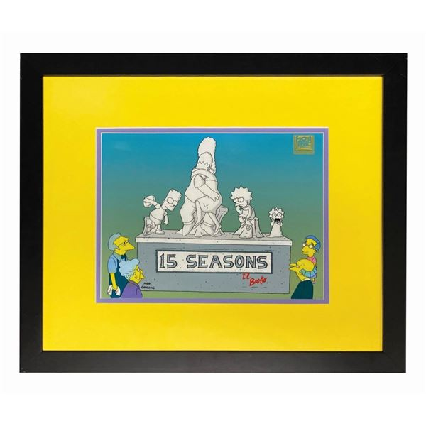 """The Simpsons """"15 Seasons"""" Limited Edition Cel."""