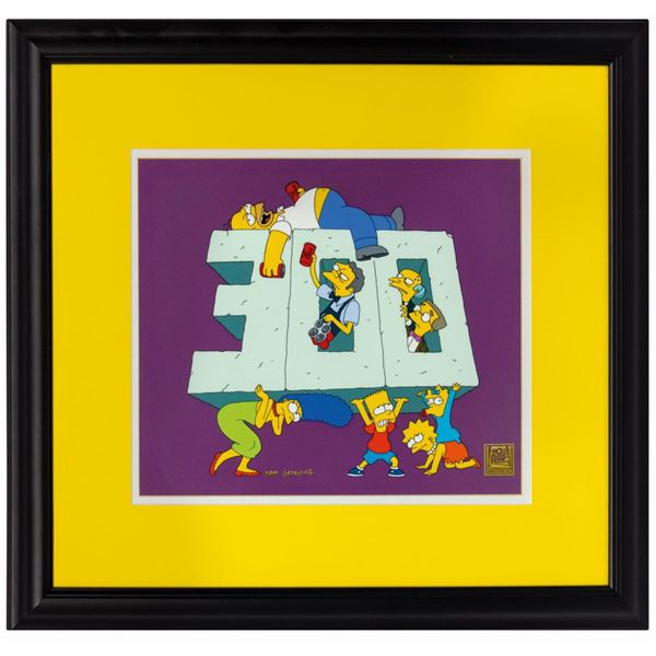The Simpsons 300th Episode Limited Edition Cel.