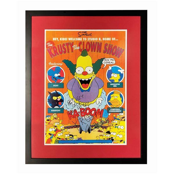 Dan Castellaneta Signed Krusty the Clown Show Print.