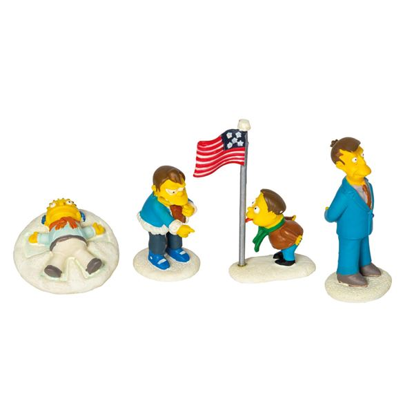 "The Simpsons ""Stuck on Christmas"" Figure Set."