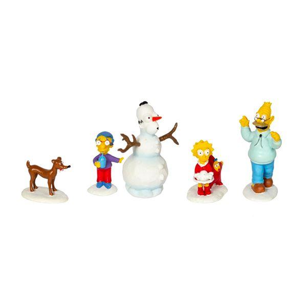"The Simpsons ""Snow Daze"" Figure Set."