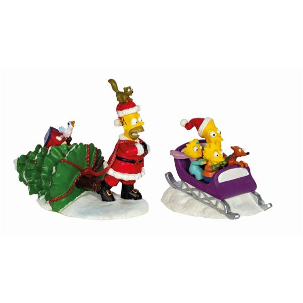 "The Simpsons ""Joys of the Season"" Figure Set."