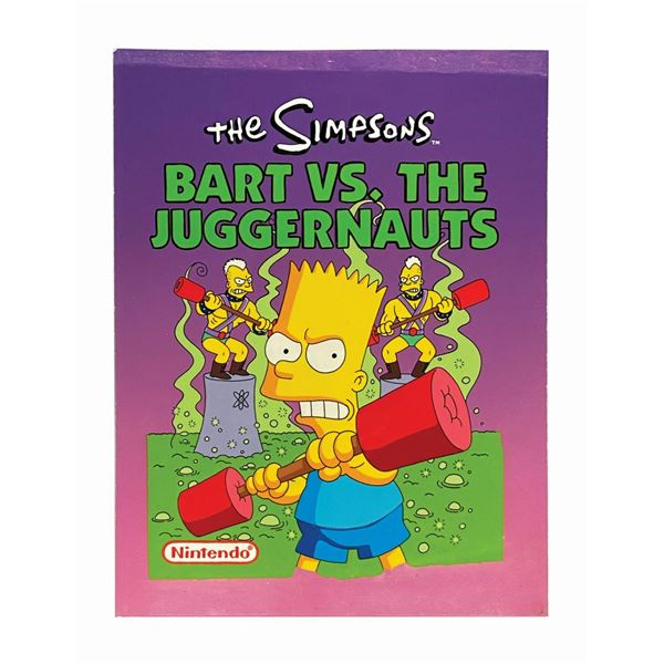 Bart vs the Juggernauts Final Cover Art.