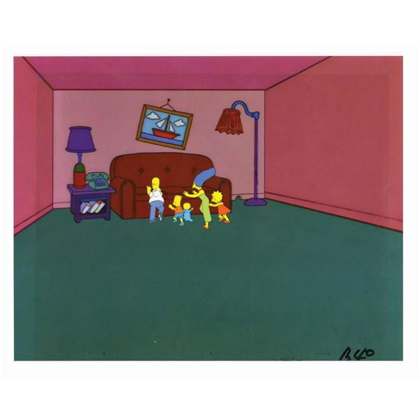 The Simpsons Couch Gag Production Cel.