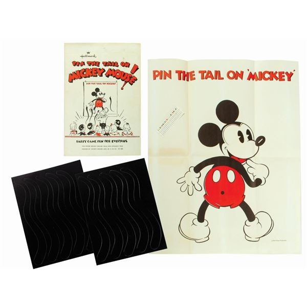 Pin the Tail on Mickey Mouse Game.