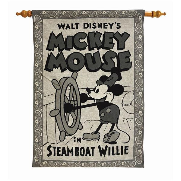Mickey Mouse Steamboat Willie Wall Tapestry.