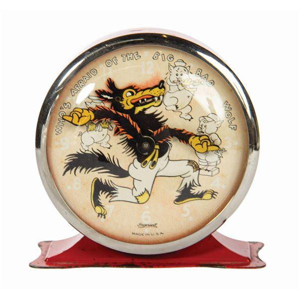 Big Bad Wolf Animated Ingersoll Alarm Clock.