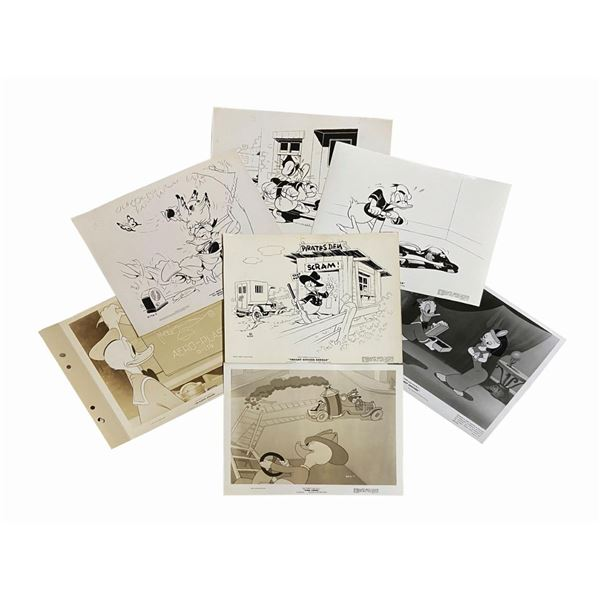 Set of (15) Photos From Donald Duck Animated Shorts.