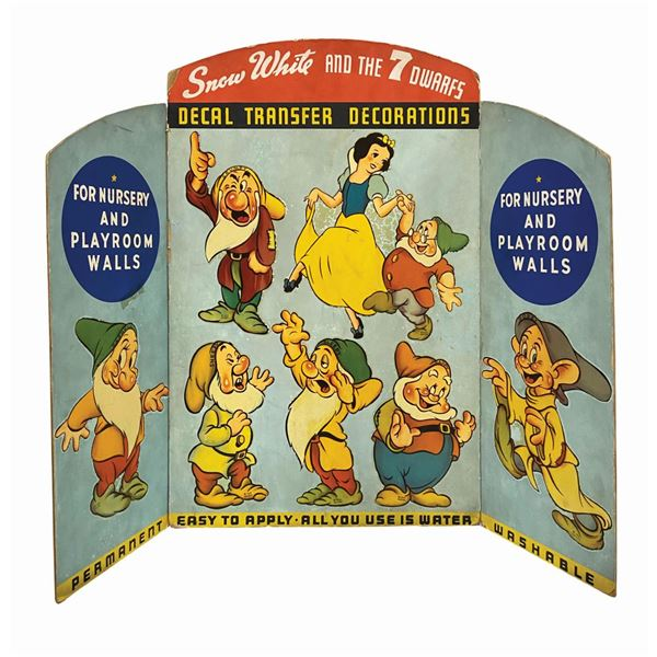 Snow White & the Seven Dwarfs Decal Store Display.