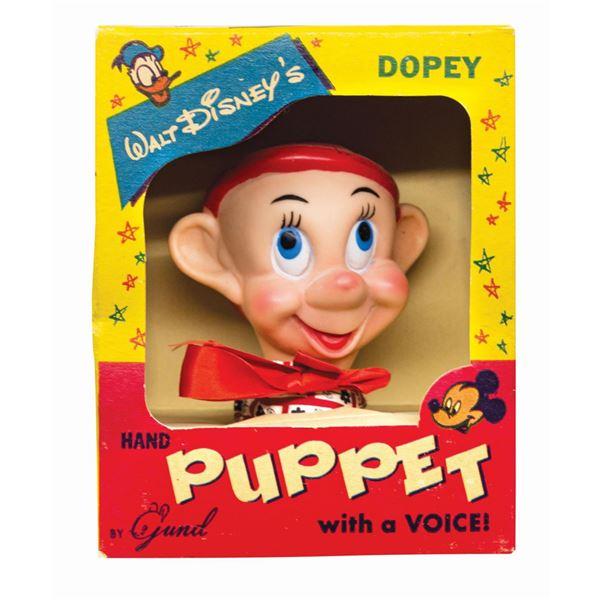 Dopey Boxed Gund Hand Puppet.