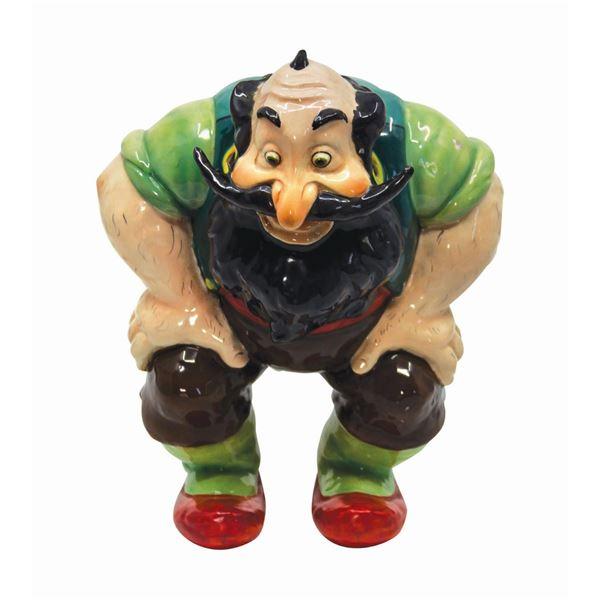 Pinocchio's Stromboli Ceramic Figure by Zaccagnini.