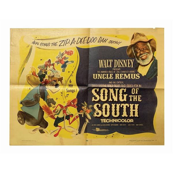 """""""Song of the South"""" 1956 Re-Release Poster."""