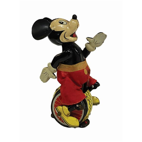 Mickey Mouse the Unicyclist Wind-Up Tin Toy.
