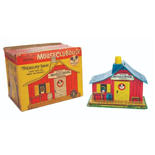 Mickey Mouse Club Tin Coin Bank.