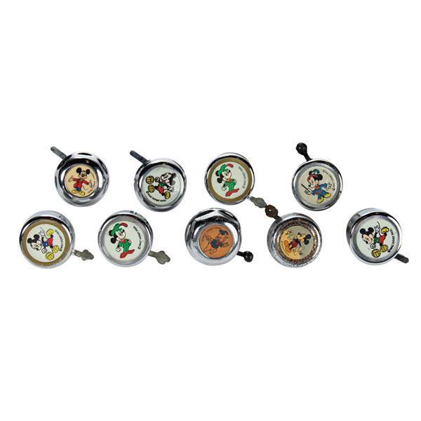 Set of (9) Disney Character Bicycle Bells.