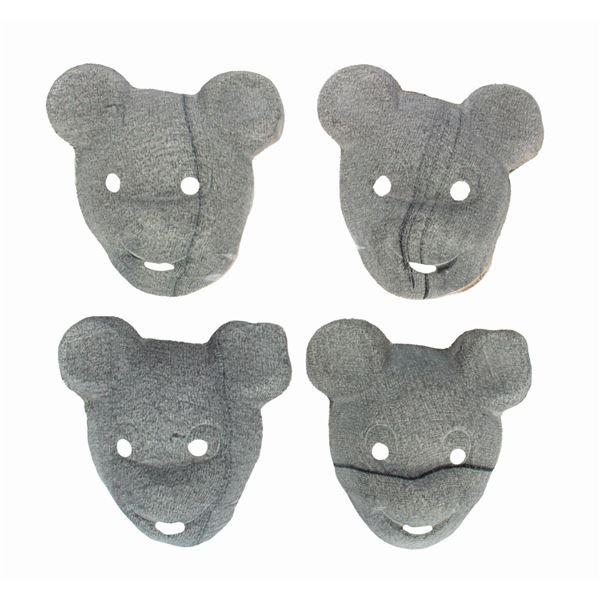 Set of (4) Vintage Mickey Mouse Gauze Masks.