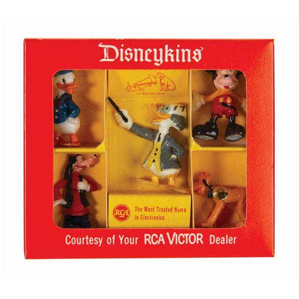 Set of (5) RCA Victor Disneykins in Box.